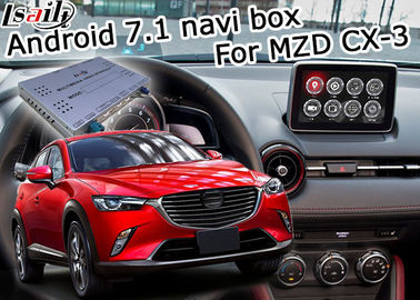 Mazda CX-3 Navigation video interface Android 7.1 Mazda knob control google waze youtube