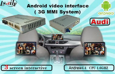 चीन Quad Core Android Navigation box , Upgraded Multimedia Video Interface for AUDI फैक्टरी