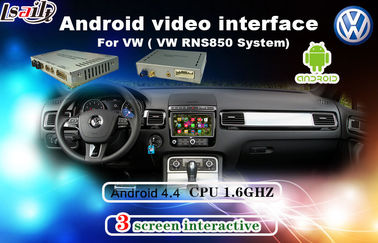 Android 6.0 Muti-Language Car Interface Android For Tiguan / Sharan / Magotan With Network , Miracast