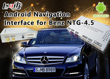 चीन Mercedes-Benz E Class NTG 4.5 GPS Navigation Android Auto Interface Box Support WiFi Bt Mirrorlink वितरक